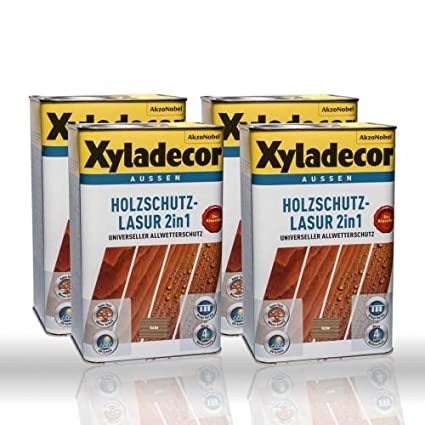 4 x Xyladecor – Barniz para protección de madera Roble 2,5L