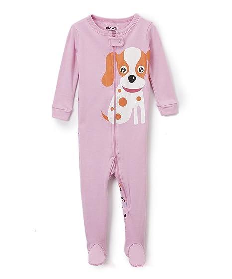 50425cfada96b elowel Bebe Fille Grenouillere Chien Pyjama Une Seule Piece Bien Serre,  Coupe Etroite 100%