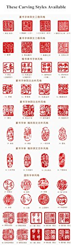 YZ020 Hmay Chinese Name Chop (4cm)/Handmade Carve Personalize Customized Traditional Calligraphy Painting Art Stamp Seal by Hmay Personalize Seal (Image #6)