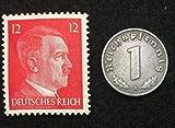 Rare Nazi Swastika 1 Reichspfennig Germa
