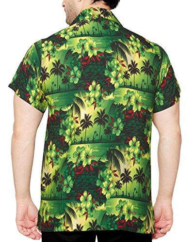 Casual Hawaiana Floreale Da Fit Club Chiaro Verde Classica Regular Uomo Corte Camicia Cubana A Maniche nqqwf0