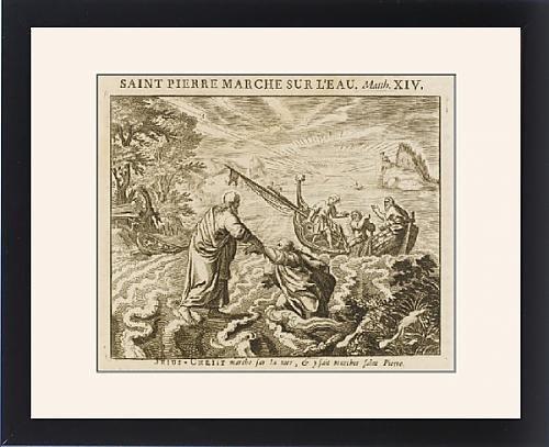 Framed Print Of Jesus Walks On Water by Prints Prints Prints