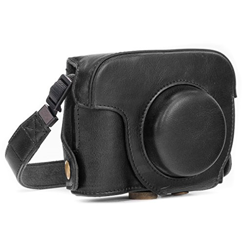 """MegaGear """"Ever Ready"""" Protective Black Leather Camera Case, Bag for Canon PowerShot G16"""