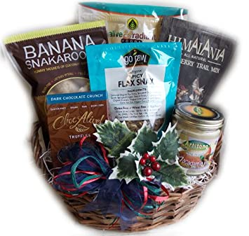 Amazon raw food christmas gift basket vegan gluten free by raw food christmas gift basket vegan gluten free by well baskets negle Gallery
