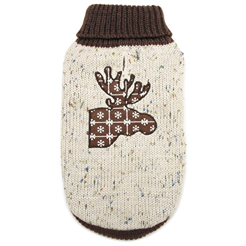- Zack & Zoey Northern Woods Moose Sweater, XX-Small