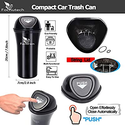 Car Trash Can Small Car Trash Bin Hanging Portable Auto Vehicle Car Garbage Can Bin Trash Container Waste Storage Fits Cup Holder Door Pocket Home Office Use: Automotive
