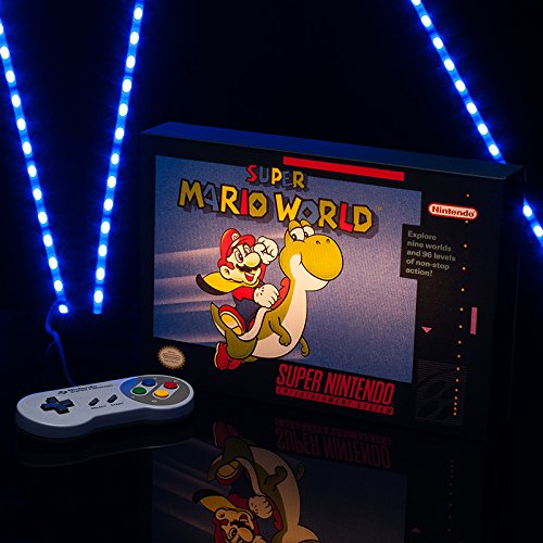 - SNES Super Mario World Luminart - Wall Art