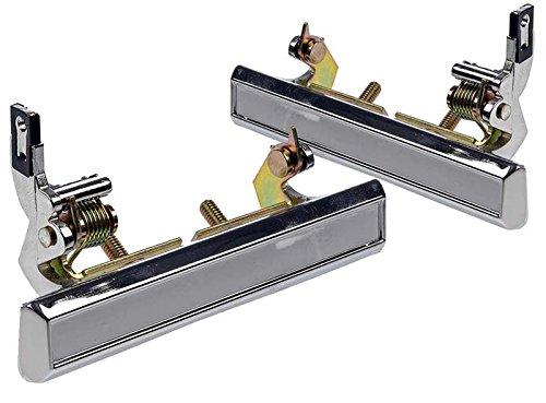 LatchWell PRO-4000541 Pair of Exterior Door Handles in Chrome for Chevrolet Camaro & Pontiac (Pontiac Firebird Exterior Trim)