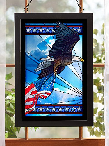 Bald Eagle Stained Glass - Our Glory - Bald Eagle Stained Glass Art by Anthony Padgett