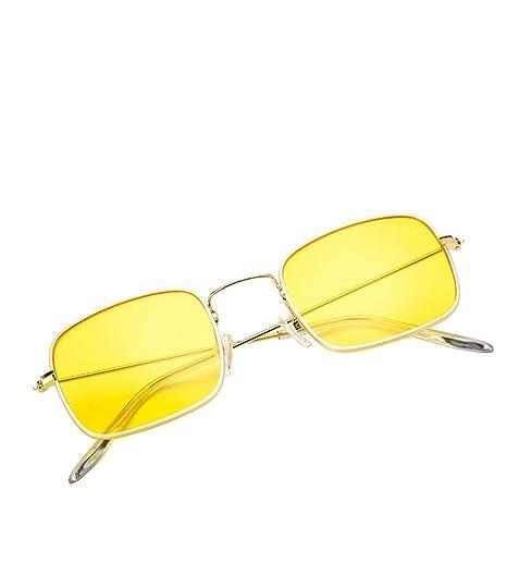 Nikgic Gafas de Sol Color Lente Transparente Retro Caja ...