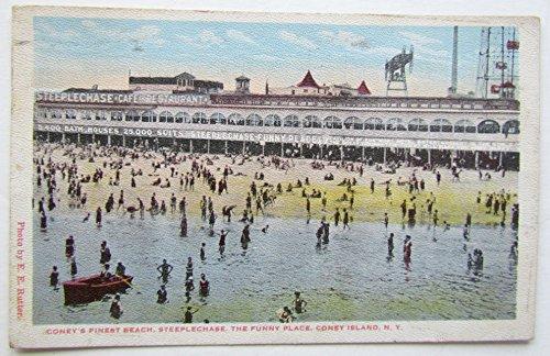 1921 VINTAGE POSTCARD CONEY'S FINEST BEACH STEEPLECHASE CONEY ISLAND BROOKLYN NY (Island Steeplechase Coney)