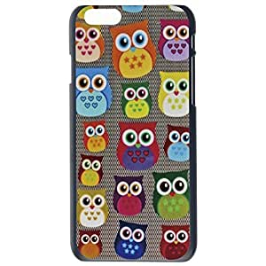 Fashion Custom Owl Design Owls Plastic Hard Case Cover Back Skin Protector For Apple iPhone 6G by Alexism Size77