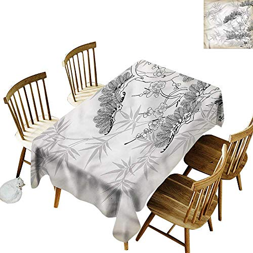Tablecloth for Kids/Childrens Japanese Asian Style Bamboo Birch Party Decorations Table Cover Cloth 54