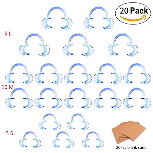 Eightnight 19pcs Dental Lip Retractor C-Shape Mouth Opener Cheek Expander Mouthpiece for Speak/Watch Mouth Adult Fun Game 20pcs Blank Card Included