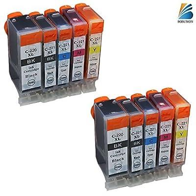 10 Pack ink cartridge for canon pgi-220 combo pack use with Canon PIXMA Ip3600, PIXMA Ip4600, PIXMA Ip4700, PIXMA MX860. Ink Cartridges for Canon inkjet printers.