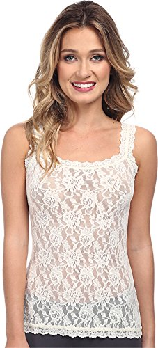 Hanky Panky Women's Signature Lace Unlined Cami Ivory Tank Top SM