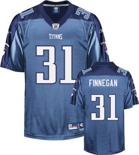 Cortland Finnegan Light Blue Reebok NFL Premier Tennessee Titans Jersey - Medium