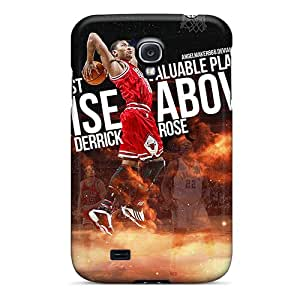 Shock-Absorbing Hard Cell-phone Case For Samsung Galaxy S4 With Support Your Personal Customized HD Derrick Rose Series AnnaDubois