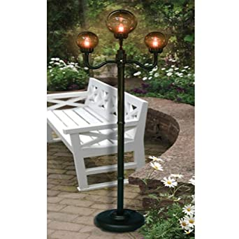 Elegant Outdoor 3 Globe Street Lamp For Patio, Porch, Bronze Color