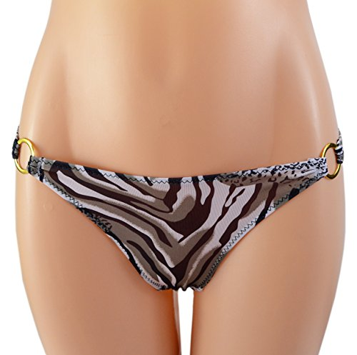 SYAYA Women's Sexy T-back Lingerie G-string T Thongs with Rings WNK02 (Leopard Print)