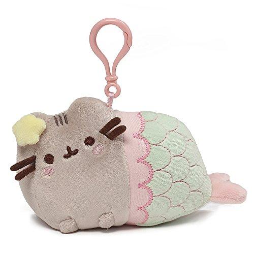GUND Pusheen Mermaid Star Cat Plush Stuffed Animal Backpack Clip, Multicolor, 4.5