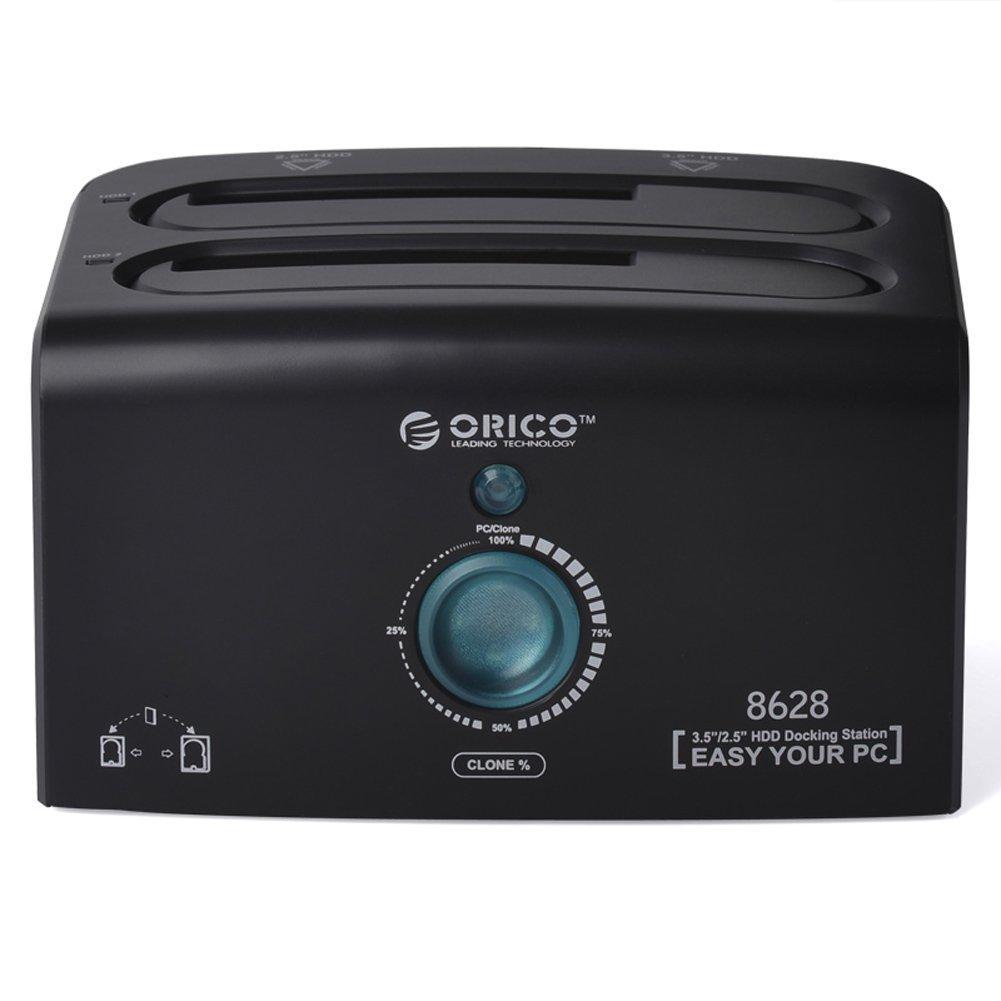Orico USB 3.0 / eSATA dual bay clone y estació n de acoplamiento con UASP para HDD and SSD de 2, 5 y 3, 5 pulgadas Orico Europe