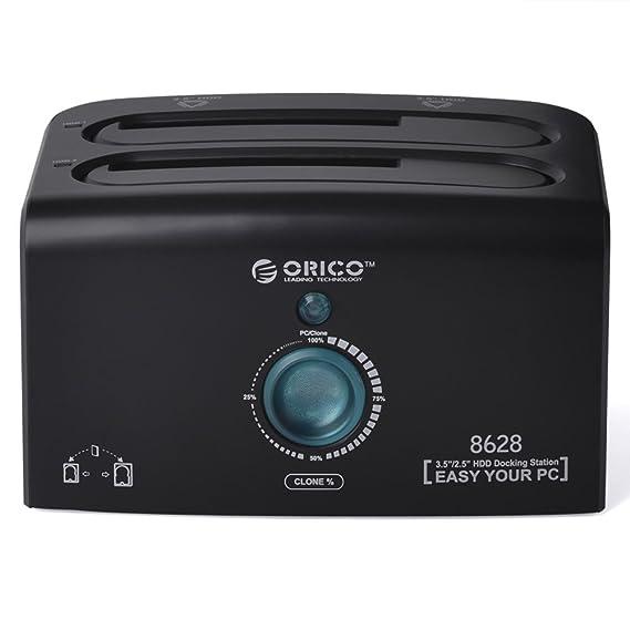 Orico USB 3.0 / eSATA dual bay clone y estación de acoplamiento ...