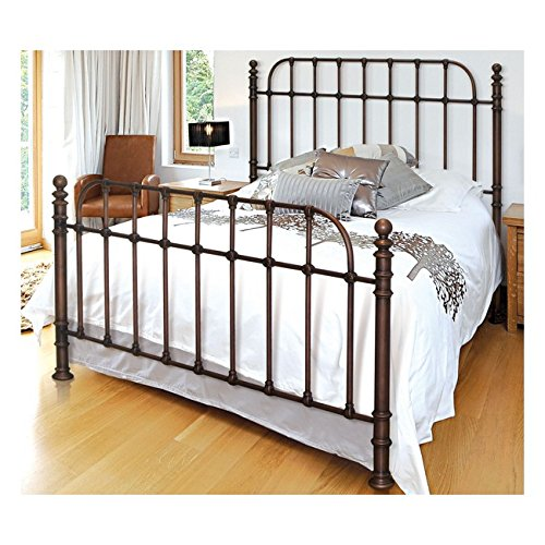 Bell'O B565KDC Metal Bed Frame King, Dark (Dark Copper Frame)