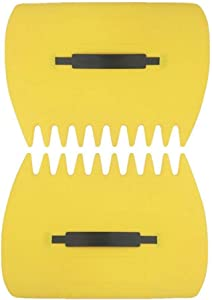 Leaf Scoop 1 Pair Leaf Hand Rakes Leaves Collector Plastic Garden Scoop for Picking Up Leaves,Grass Clippings and Garbage (Yellow)