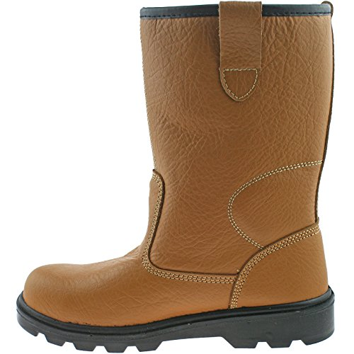 SRC Grafters Tan S1 Tan Safety Unisex Boots Thermal M020BSM Rigger tvSqUvw6
