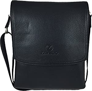 Zavelio Men's Genuine Leather Medium Cross Body Small Shoulder Messenger Bag