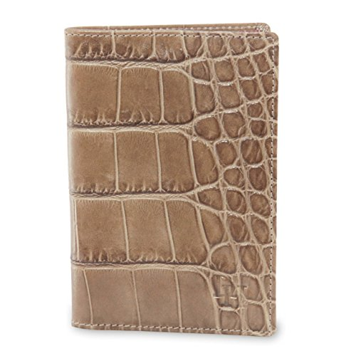 David Hampton Serengeti Crocodile Print Leather Passport Holder by David Hampton