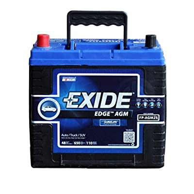 Exide Edge FP-AGM25 Flat Plate AGM Sealed Automotive Battery