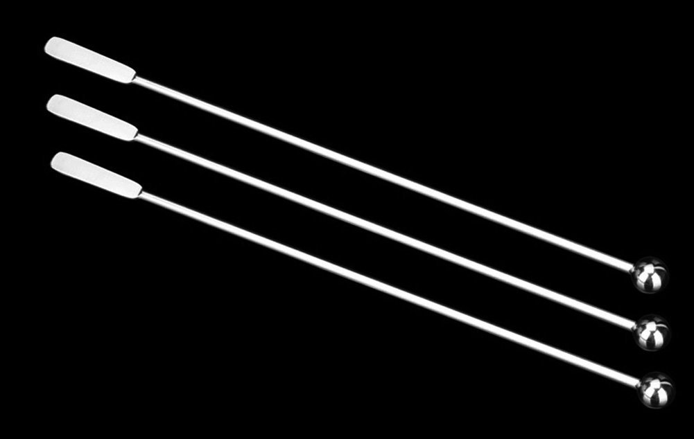 Mirthee 7.4 Inches Small Rectangular Paddles Stainless Steel Swizzle Stick Cocktail Picks Coffee Stirrers (Set of 3)