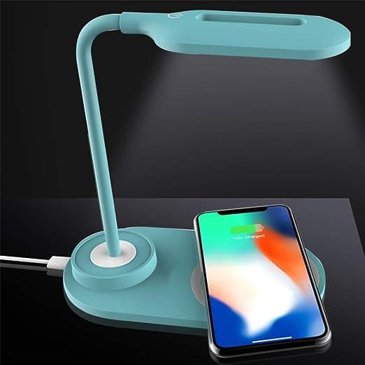 Cargador de escritorio multifuncional, luz LED, inalámbrico ...