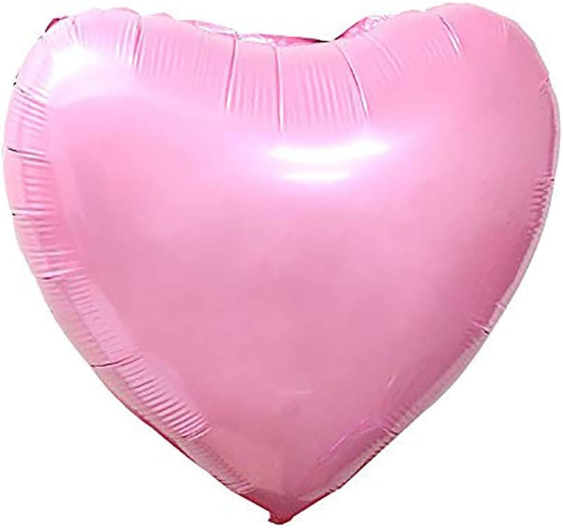 5 Pack of 36 SC Solid Heart Red Balloon
