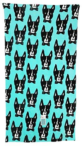 (Bouffants & Broken Hearts Beach Towel - Boston Terrier Dog - 36