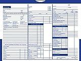 Printed Color Top Detailed Deal Jackets (100 per pack) - Vehicle Dealer Envelopes (Blue)