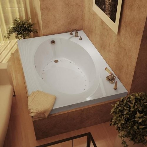 (Atlantis Whirlpools 4272vcal Vogue Rectangular Air Jetted Bathtub, 42 X 72, Center Drain, White)