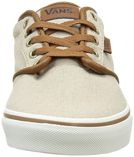 Basses EU Atwood Vans Beige 5 Oxford White Stitch Black 42 Homme Baskets Contrast wEqaqvpT