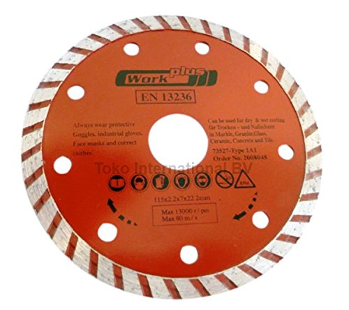 Turbo Wave Diamond Cutting Disc Flex Disc 115 x 22.23 mm (20 mm Reducer Ring) EN13236 Fast and Clean actionHome