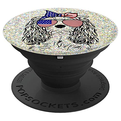 Funny Proud Cavalier King Charles Spaniel Patriotic dog gift - PopSockets Grip and Stand for Phones and -
