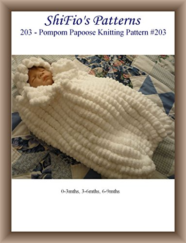 Knitting Pattern - KP203 - baby cocoon, papoose 0-3, 3-6. 6-9 mths - UK Terminology