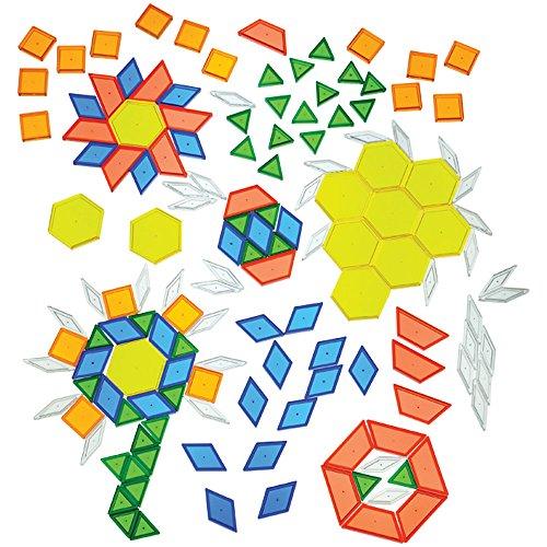 CP Toys Translucent Pattern Blocks / 147 Pc.