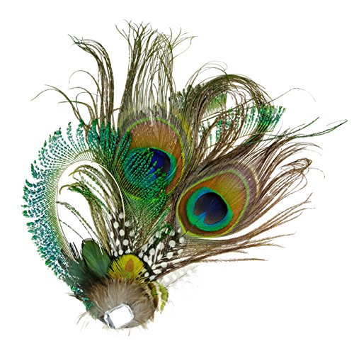 Hats And Headpieces (1920s Peacock Feather Costume Hair Clip Flapper Headpiece Hat Accessory)