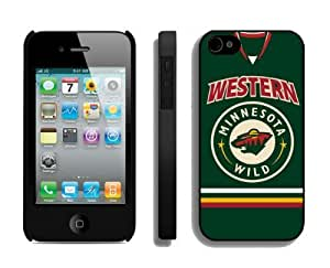 Designer Coolest Iphone 4/4s Case NHL Minnesota Wild 2 Cell Phone Hard Cover Cheap