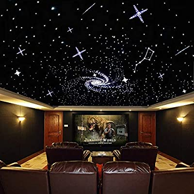 32w Led Star Lights Fiber Optic Ceiling Kit Rgb Twinkle Engine Driver With Rf 28 Key Remote Control Crystal Optical Fiber Cable 0 03in 0 75mm 13 1ft 4m 800pcs Amazon Com Au Lighting