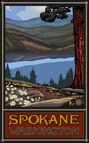 Northwest Art Mall LKT-Lake Trails Spokane Washington Wall Art Print by Paul A Lanquist, 11 by - Spokane Mall
