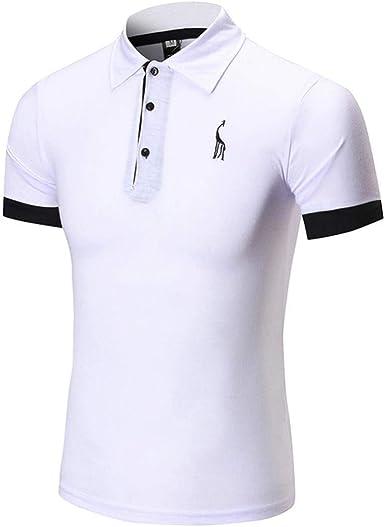 Hombre Camisa De Manga Corta De Algodón Piqué De Algodón para ...