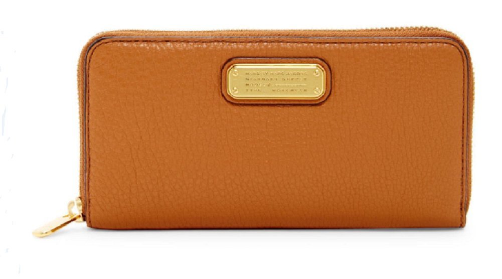 Marc by Marc Jacobs New Q Leather Vertical Zippy Wallet , Maple Tan by Marc by Marc Jacobs